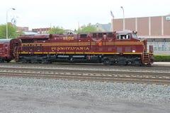 诺福克南部的遗产机车8102宾夕法尼亚 免版税库存图片