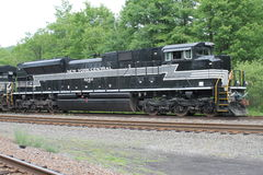 诺福克南部的遗产机车1066纽约中央 免版税库存照片