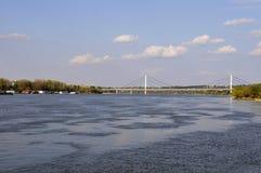 诺维萨德和多瑙河在塞尔维亚 库存图片