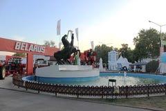 诺维萨德,塞尔维亚, 20 05 2018公平,主要纪念碑 免版税库存图片