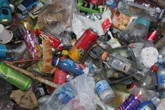 诺维萨德,塞尔维亚, 06 15 2018年,回收垃圾 免版税库存图片