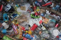 诺维萨德,塞尔维亚06 15 2018年,在堆的垃圾 免版税库存照片