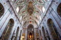 诺萨da Senhora da Encarnacao教会,里斯本,葡萄牙 免版税库存照片