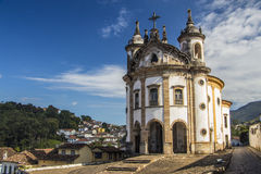 诺萨Senhora做Rosà ¡里约教会-欧鲁普雷图-米纳斯吉拉斯州-巴西 免版税库存图片