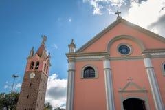 诺萨Senhora de Caravaggio Sanctuary教会- Farroupilha,南里奥格兰德州,巴西 免版税库存照片