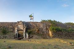 诺萨Senhora dos Remedios堡垒-费尔南多・迪诺罗尼亚群岛, Pernambuco,巴西 库存图片