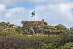 诺萨Senhora dos Remedios堡垒-费尔南多・迪诺罗尼亚群岛, Pernambuco,巴西 免版税库存照片