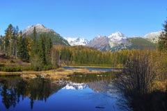 诺韦Strbske普莱索,高Tatras,斯洛伐克 免版税库存图片