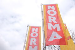 诺马旗子 免版税库存图片
