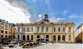 诺贝尔Museet pÃ¥ Stortorget我Gamla斯坦斯德哥尔摩/诺贝尔Museeum 库存图片