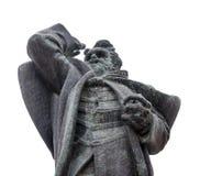 诺维萨德,塞尔维亚- 4月17日雕象Svetozar Miletic在诺维萨德大广场拍摄了在诺维萨德, 4月1日的塞尔维亚 库存图片