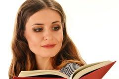 读书的妇女。 女学生了解 免版税库存图片
