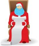 读取圣诞老人 库存照片