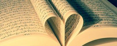 读古兰经的爱 库存图片