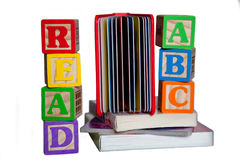 读的书 免版税库存照片