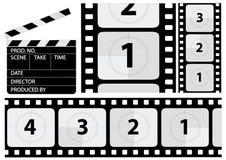 读秒影片向量 免版税图库摄影
