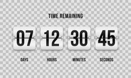 读秒时钟轻碰柜台传染媒介数字式定时器 向量例证