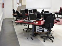 课堂计算机 免版税库存照片