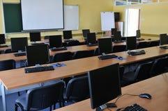 课堂计算机 库存照片