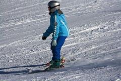 课程滑雪 免版税图库摄影