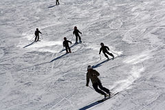 课程滑雪 库存照片