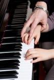 课程钢琴 库存照片