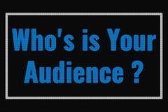 谁is is您的在黑暗的屏幕上的观众文本 向量例证