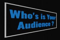 谁is is您的在黑暗的屏幕上的观众蓝色文本 向量例证