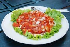 调味意粉蕃茄 免版税图库摄影