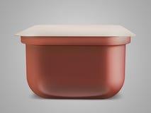 调味汁、番茄酱、芥末或者任何液体食品容器在黑背景 3d例证 库存照片