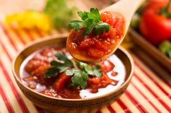 调味汁蕃茄 图库摄影