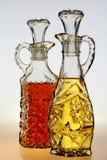 调味瓶油醋 免版税图库摄影