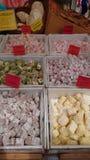 调味的土耳其快乐糖 库存图片