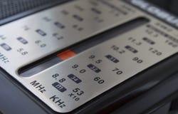 调整的拨号盘收音机 免版税图库摄影