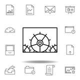 调整配置适应概述象 详细的套unigrid多媒体例证象 能为网,商标使用, 向量例证