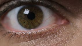 调查照相机,特写镜头的男性眼睛 视觉问题,眼科学 影视素材