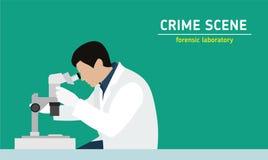 调查 实验室研究证据 向量例证