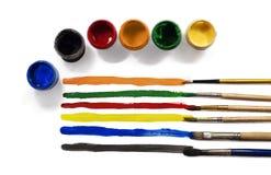 调色板颜色和油漆 免版税库存图片