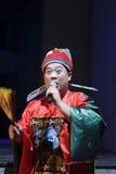 调解人古老中国的穿的正式制服 免版税库存照片