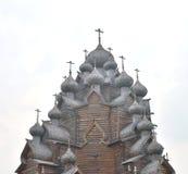 调解的木教会在圣彼德堡附近的 免版税图库摄影