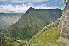 调遣露台 Machu Picchu 秘鲁 免版税库存图片
