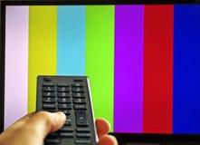 调整电视连接 免版税库存图片