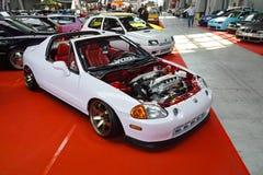 调整的汽车,本田CRX del Sol 库存照片
