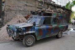 调整的苏联减速火箭的汽车,亚美尼亚 库存照片