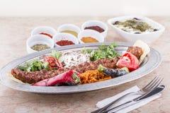 谄媚iskender kebab土耳其 免版税图库摄影