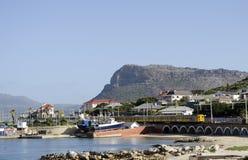 谈海湾西开普省的南部非洲一个沿海城市 免版税图库摄影