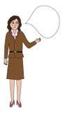 谈的妇女 免版税库存图片