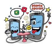 谈的手机传染媒介 库存例证
