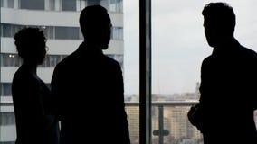 谈论与伙伴的企业队项目 股票视频