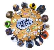 谈论人的社会媒介 免版税图库摄影